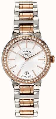 Rotary Montre femme les originales en acier plaqué or rose LB90083/02