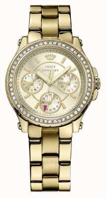 Juicy Couture Mesdames plaqué or d'or montre analogique à quartz 1901105