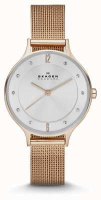 Skagen Anita Ladies rose montre de maille d'or SKW2151