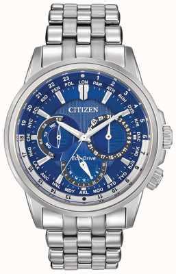 Citizen Mens montre minuterie calendrier mondial Eco-Drive BU2021-51L