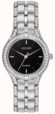 Citizen Cristaux silhouette montre éco-voiture dames FE2060-53E