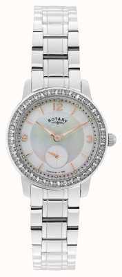 Rotary Mesdames acier inoxydable montre analogique à quartz LB02700/41
