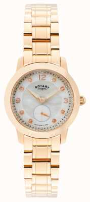 Rotary Femmes cambridge, or rose, perle, cristal LB02702/41