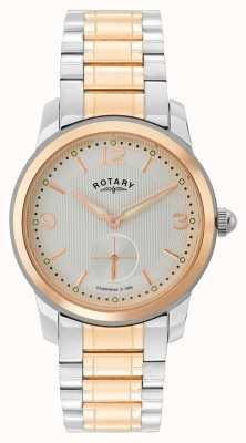 Rotary Cambridge mens montre deux tons GB02701/01