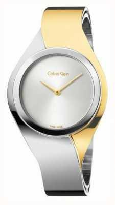 Calvin Klein Womens sens, deux tons, l'or et l'acier petite montre K5N2S1Y6