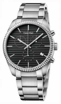 Calvin Klein Mens Alliance Silver chronographe K5R37141