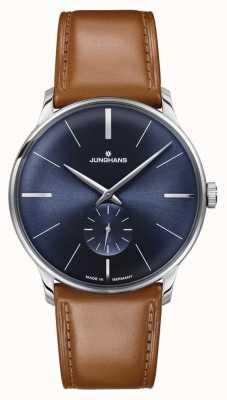 Junghans Bracelet en cuir marron à remontage manuel Meister pour homme 027/3504.00