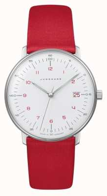 Junghans Dame facture max | quartz | sangle rouge 047/4541.04