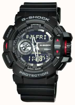 Casio Montre chronographe noire G-Shock pour homme GA-400-1BER