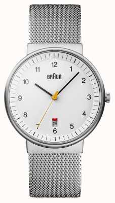Braun Mens Watch blanc argent BN0032WHSLMHG