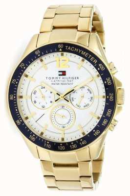 Tommy Hilfiger Montre homme luke gold | bracelet en métal doré | 1791121