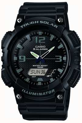 Casio Mens illuminateur alimenté cinq alarme solaire noire AQ-S810W-1A2VEF
