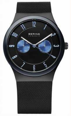Bering Gents maille bracelet noir en céramique 32139-227