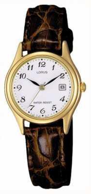 Lorus Bracelet en cuir brun RXT94AX9