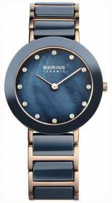 Bering Mesdames céramique rose bleue mère de la perle d'or 11429-767