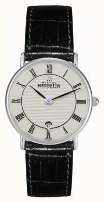 Michel Herbelin Mesdames acier inoxydable, montre bracelet en cuir 16845/S08