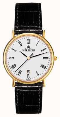 Michel Herbelin Gents citadines strapwatch en cuir 12443/P01