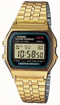 Casio Mens digital retro doré A159WGEA-1EF