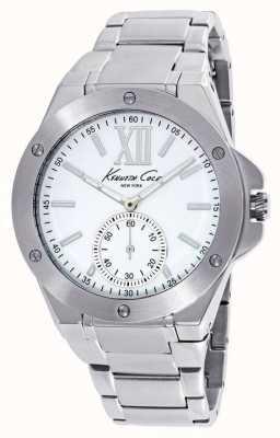 Kenneth Cole Mesdames acier inoxydable cadran blanc KC10020844