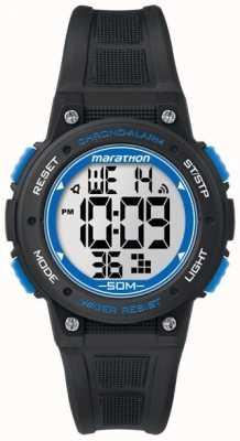 Timex Marathon sangle en caoutchouc noir numérique bleu TW5K84800