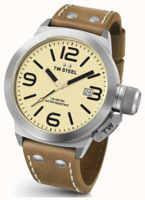 TW Steel Gents cantine 45mm brun bracelet en cuir CS11