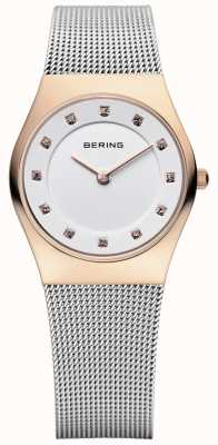 Bering Mesdames maille d'acier inoxydable PVD or rose 11927-064