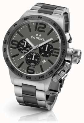 TW Steel Mens cantine 45mm chrono deux tons cadran gris CB203