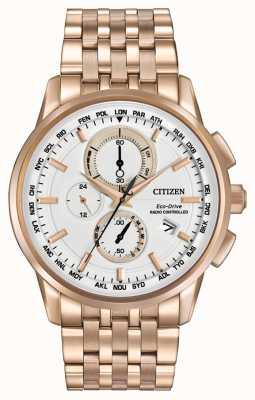 Citizen Menseco monde d'entraînement au chrono rose tons d'or AT8113-55A