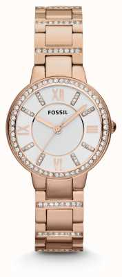 Fossil Femmes virginie rose plaqué PVD or ES3284