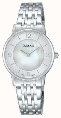 Pulsar Cadran nacre en acier inoxydable pour femme PRW025X1