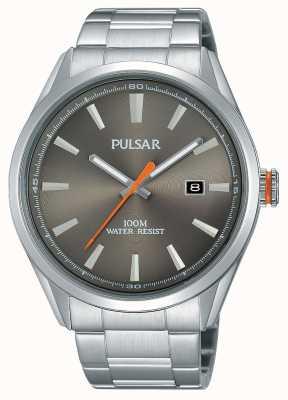 Pulsar Mens cadran argenté en acier inoxydable PS9381X1