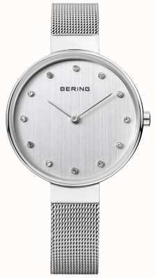 Bering Womens cadran maillage d'argent en acier inoxydable 12034-000
