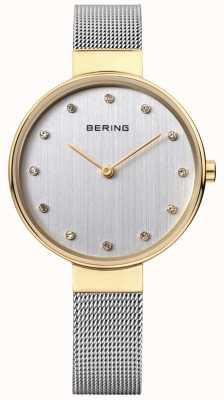 Bering Womens cadran maillage d'argent en acier inoxydable 12034-010