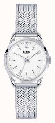 Henry London Edgware acier inoxydable maille cadran blanc HL25-M-0013