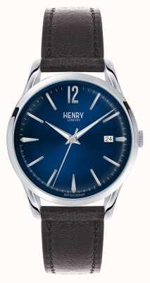 Henry London Knightsbridge cadran bleu - comme on le voit à la télé HL39-S-0031