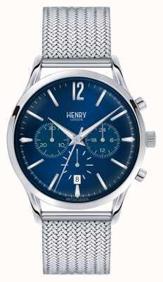 Henry London Knightsbridge maille d'acier inoxydable chrono HL41-CM-0037