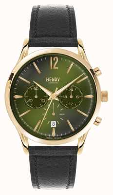 Henry London Chronographe en cuir noir Chiswick HL41-CS-0106