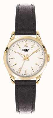 Henry London Westminster bracelet en cuir brun champagne HL25-S-0002