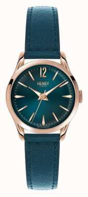 Henry London Cadran bleu Stratford bleu bracelet en cuir HL25-S-0128