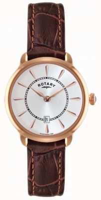 Rotary Mesdames cuir marron montre bracelet LS02919/03