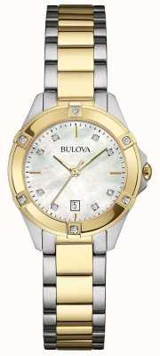Bulova Mesdames galerie de diamant montre deux tons 98W217