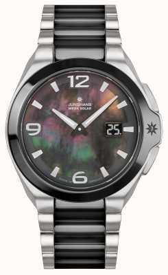 Junghans Femme Spektrum | bracelet en acier inoxydable / noir | 015/1500.44
