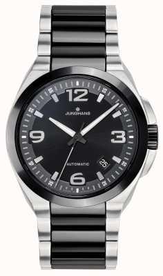 Junghans Spektrum automatique | bracelet en acier inoxydable noir / argent | 027/1500.44