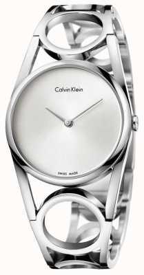 Calvin Klein Womens cadran argenté ronde inox K5U2S146