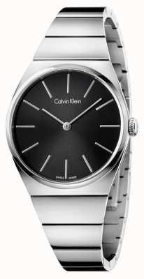 Calvin Klein Womens acier inoxydable suprême cadran noir K6C2X141