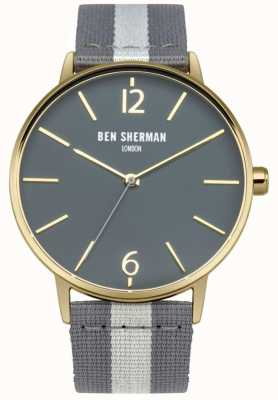 Ben Sherman Mens sangle gris cadran gris WB044EGA