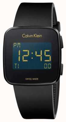Calvin Klein Avenir unisexe bracelet en caoutchouc noir numérique K5C214D1
