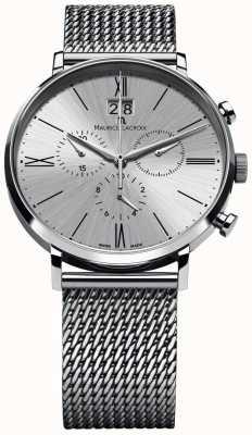 Maurice Lacroix Eliros chronographe avec bracelet en maille argent EL1098-SS002-110-1