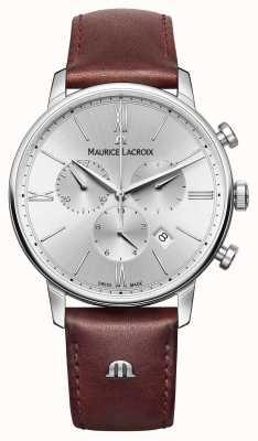 Maurice Lacroix Eliros date Bracelet en cuir chronographe EL1098-SS001-110-1