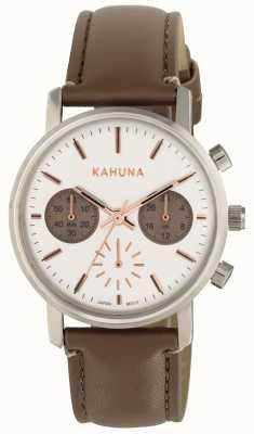 Kahuna Womens bracelet brun cadran blanc KLS-0318L